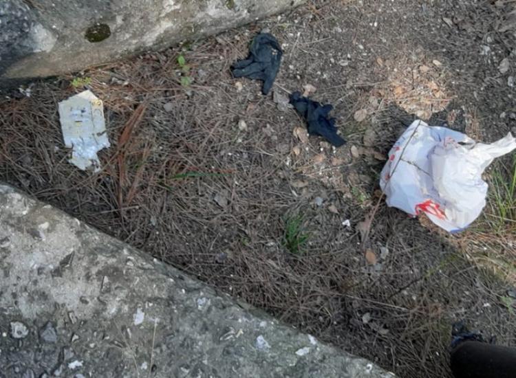 Πλαστικά γάντια, μάσκες αλλά και σκουπίδια πεταμένα εδώ κι εκεί στο Άλσος!