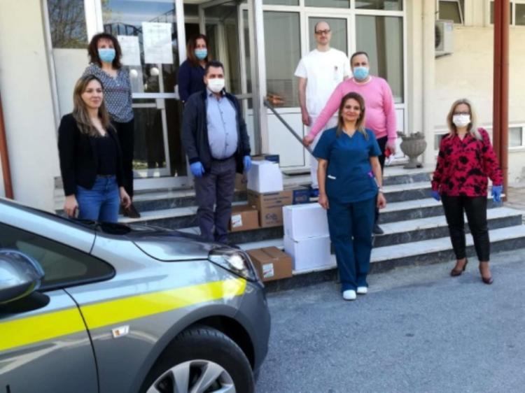 Προσφορά Μέσων Ατομικής Προστασίας (ΜΑΠ) στο Νοσοκομείο Νάουσας