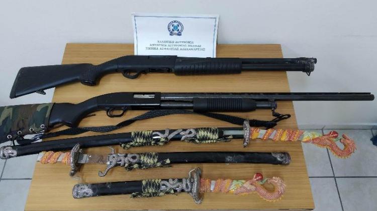 Κατάσχεση όπλων και σπαθιών από το Τμήμα Ασφάλειας Βέροιας