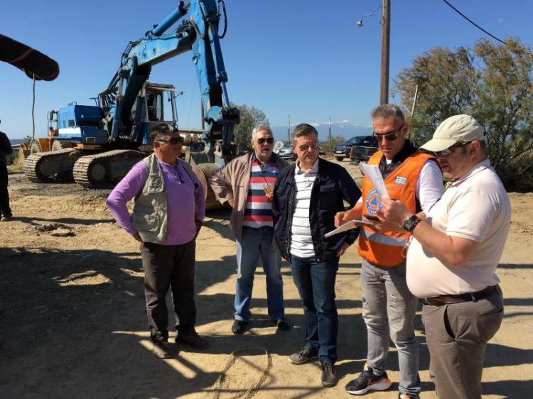 Εκτεταμένες εργασίες καθαρισμού των εκβολών του Λουδία για τη διευκόλυνση της πρόσβασης στις οστρακοκαλλιέργειες από την ΠΚΜ