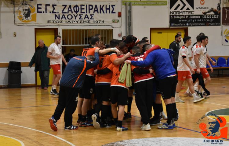 Συγχαρητήρια δήλωση του Δημάρχου Νάουσας για την άνοδο της ανδρικής ομάδας χάντμπολ του «Ζαφειράκη» στην Α1 Κατηγορία της handball premiere