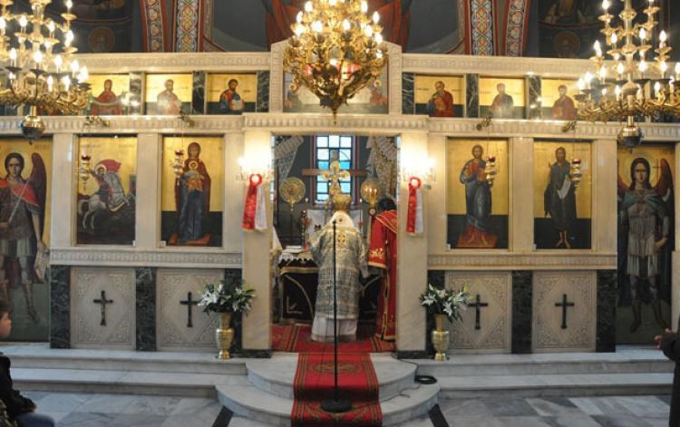 Θεία λειτουργία και τέλεση πανδήμου ετήσιου μνημοσύνου στην ιερά μονή Αγίου Γεωργίου Περιστερεώτα