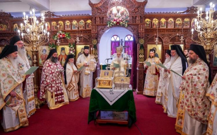 Εορτάστηκε η μνήμη της μετακομιδής των ιερών λειψάνων του Αγίου Λουκά του Ιατρού στην Ι.Μ.Παναγίας Δοβρά
