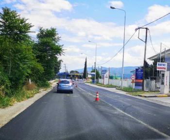 Ασφαλτοστρώθηκε η Περιφερειακή οδός της Βέροιας