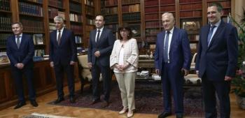Με το προεδρείο της ΚΕΔΕ συναντήθηκε η Κ. Σακελλαροπούλου
