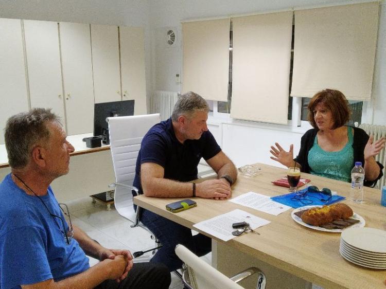 Επίσκεψη Φρόσως Καρασαρλίδου σε αγροτικούς συνεταιρισμούς του νομού για ζητήματα που αφορούν τους αγρότες