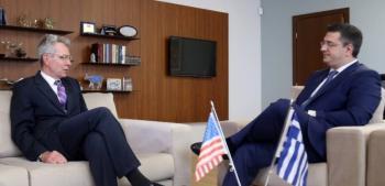 Τον Αμερικάνο Πρέσβη των ΗΠΑ υποδέχθηκε χθες στη Θεσσαλονίκη ο Απ. Τζιτζικώστας