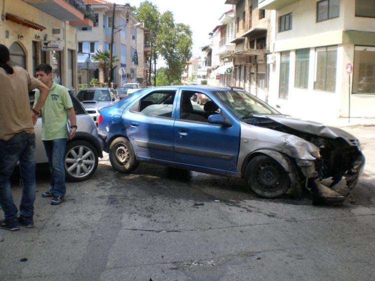 Σοβαρό τροχαίο ατύχημα χθες στη Βέροια