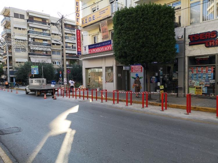 Ετοιμάζονται οι χώροι στάθμευσης δικύκλων