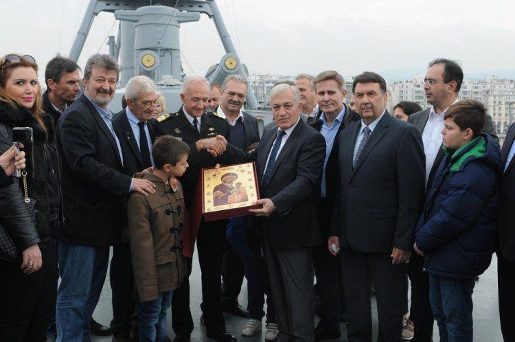 Στους χώρους του ιστορικού Θωρηκτού «Γεώργιος Αβέρωφ» ξεναγήθηκαν οι Δήμαρχοι της Κεντρικής Μακεδονίας