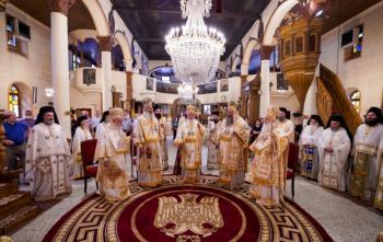 Πολυαρχιερατικό Συλλείτουργο για τον Πολιούχο της Ναούσης Όσιο Θεοφάνη το θαυματουργό