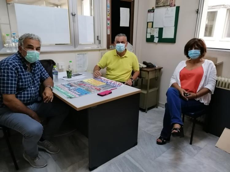 Η Φρόσω Καρασαρλίδου ενημερώθηκε για την κατάσταση του Νοσοκομείου Βέροιας εν μέσω πανδημίας
