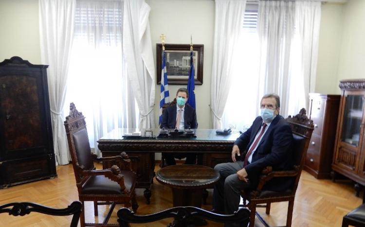 Συνάντηση του Προέδρου της ΕΣΕΕ για τα αιτήματα της αγοράς με τον Αναπληρωτή Υπουργό Οικονομικών κ. Θόδωρο Σκυλακάκη