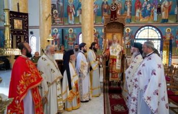 Αρχιερατική θ. Λειτουργία στον Ιερό Ναό Νεομαρτύρων στη Χαλάστρα