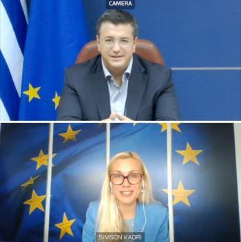 Τηλεδιάσκεψη του Προέδρου της Ευρωπαϊκής Επιτροπής των Περιφερειών Απ.Τζιτζικώστα με την Επίτροπο Ενέργειας της ΕΕ Kadri Simson