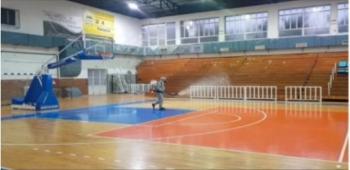 ΚΑΠΑ Δήμου Βέροιας : Απολύμανση της σάλας και όλων των χώρων του κλειστού γυμναστηρίου του ΔΑΚ Βικέλας