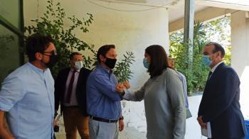 Επίσκεψη της Υπουργού Παιδείας κ. Νίκης Κεραμέως στο 1ο ΕΠΑΛ Νάουσας και στο Κέντρο Περιβαλλοντικής Εκπαίδευσης