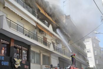 Ανακοίνωση της Πυροσβεστικής για την πυρκαγιά σε διαμέρισμα της οδού Εδέσσης στη Βέροια