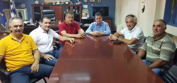 Επίσκεψη μελών του Α.Σ.Γ. Βέροιας στον αντιπεριφερειάρχη Ημαθίας για το ροδάκινο