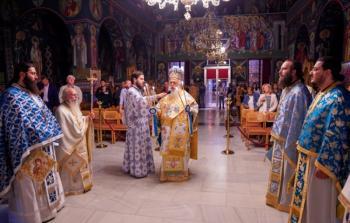 Αρχιερατική Ιερά Αγρυπνία επί τη εορτή της συνάξεως της θαυματουργού εικόνος της Παναγίας της Γοργοεπηκόου στη Νάουσα