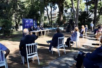 Παρουσίαση του νέου Ευρωπαϊκού Βραβείου «Αυτοκράτειρα Θεοφανώ», που καθιερώνεται από φέτος ως ο νέος διεθνής θεσμός της Θεσσαλονίκης