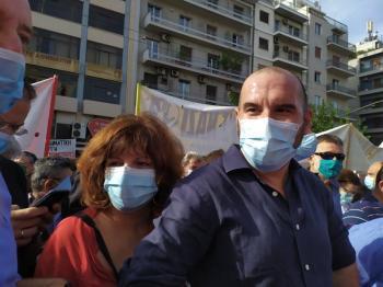 Στο μπλοκ του ΣΥΡΙΖΑ στη δίκη της Χρυσής Αυγής η Φρόσω Καρασαρλίδου