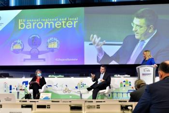 Η Πολιτική και οι Πόροι Συνοχής στo επίκεντρο της Ευρωπαϊκής Εβδομάδας των Περιφερειών και των Δήμων - Κοινή συνέντευξη τύπου του Απ. Τζιτζικώστα και της Ευρωπαίας Επιτρόπου E.Ferreira