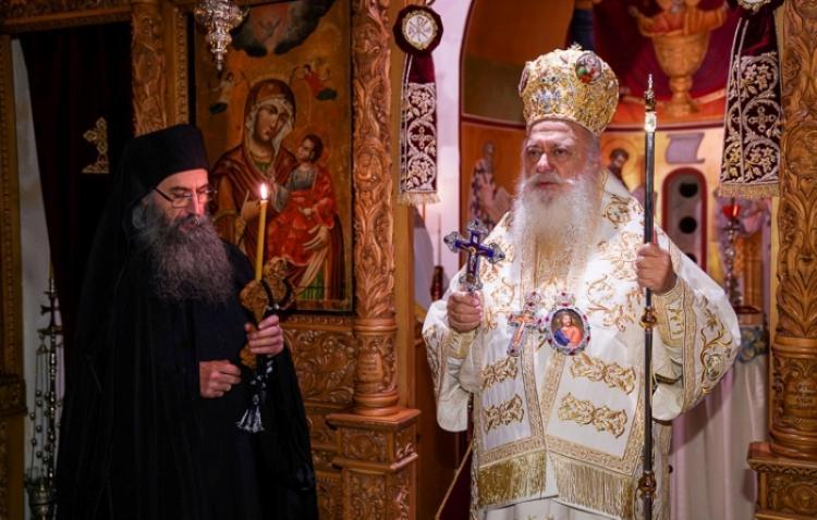 Αρχιερατική Ιερά Αγρυπνία στο Ιερό Παρεκκλήσιο του Αγίου Γερασίμου του εν Κεφαλληνία στην Ι. Μ. Παναγίας Δοβρά Βεροίας. Μεγαλοσχημία Μοναχού