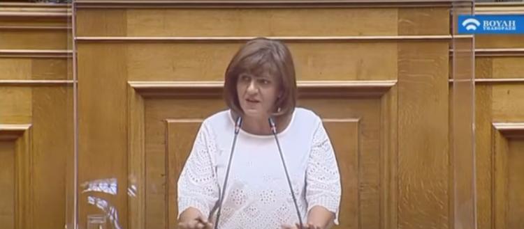 Φρόσω Καρασαρλίδου : «Εκποιούν την ακίνητη περιουσία του ελληνικού λαού - πτωχεύουν τα μεσαία στρώματα»
