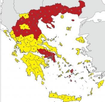 «Κοκκινίζει» η Ελλάδα!