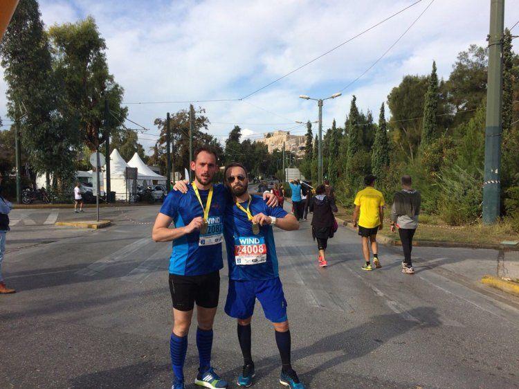 Με 2 αθλητές συμμετείχε ο Ε.Ο.Σ Νάουσας στη μεγάλη αθλητική διοργάνωση του Μαραθωνίου της Αθήνας