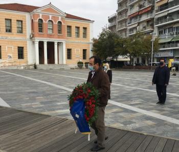 Τίμησε την Επέτειο του Πολυτεχνείου ο Δήμαρχος Βέροιας