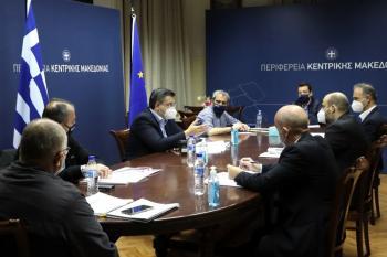 Συνάντηση εργασίας του Περιφερειάρχη Κεντρικής Μακεδονίας Απ.Τζιτζικώστα με το Διοικητή της Εθνικής Αρχής Διαφάνειας Α.Μπίνη