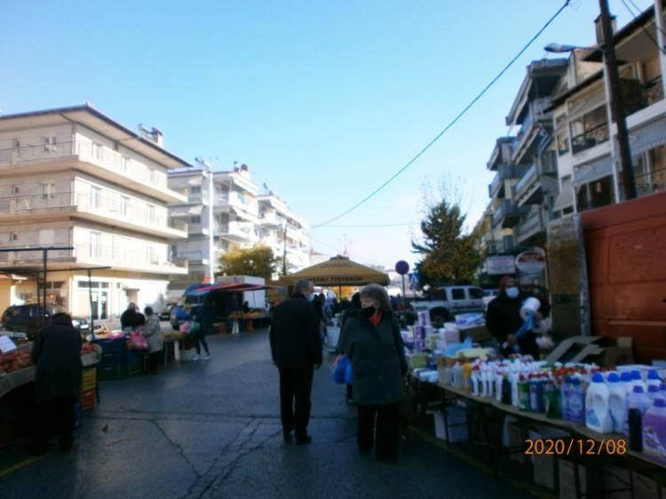 Χαλαρή και με προφυλάξεις η λαϊκή αγορά της Βέροιας