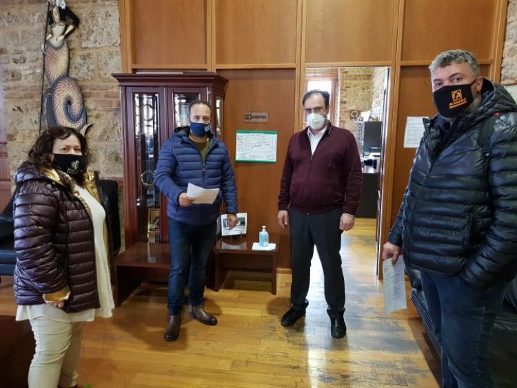 Συνάντηση του Δημάρχου Βέροιας με Παραγωγικούς Φορείς για τα οικονομικά προβλήματα λόγω πανδημίας