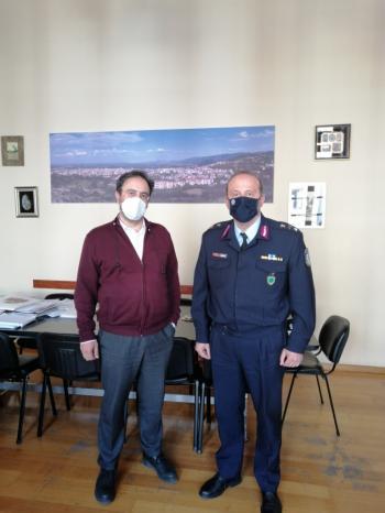 Εθιμοτυπική επίσκεψη του νέου Αστυνομικού Διευθυντή Ημαθίας στο Δήμαρχο Βέροιας