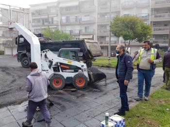 Σε εξέλιξη εργασίες ανακατασκευής των γηπέδων μπάσκετ στη Βίλα Βικέλα