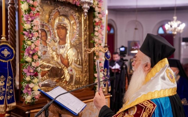 Η Ακολουθία του Ακαθίστου Ύμνου της Υπεραγίας Θεοτόκου στην Ιερά Μητρόπολη Βεροίας