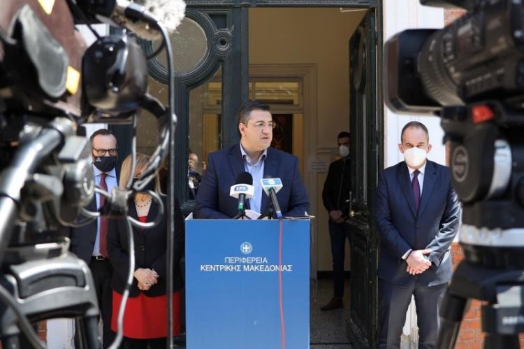 Συνάντηση του Περιφερειάρχη Κεντρικής Μακεδονίας Απ.Τζιτζικώστα με τον Υπουργό Ναυτιλίας και Νησιωτικής Πολιτικής Ι.Πλακιωτάκη