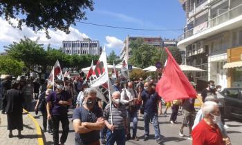 Απεργία και κινητοποιήσεις για την Εργατική Πρωτομαγιά χθες στη Βέροια