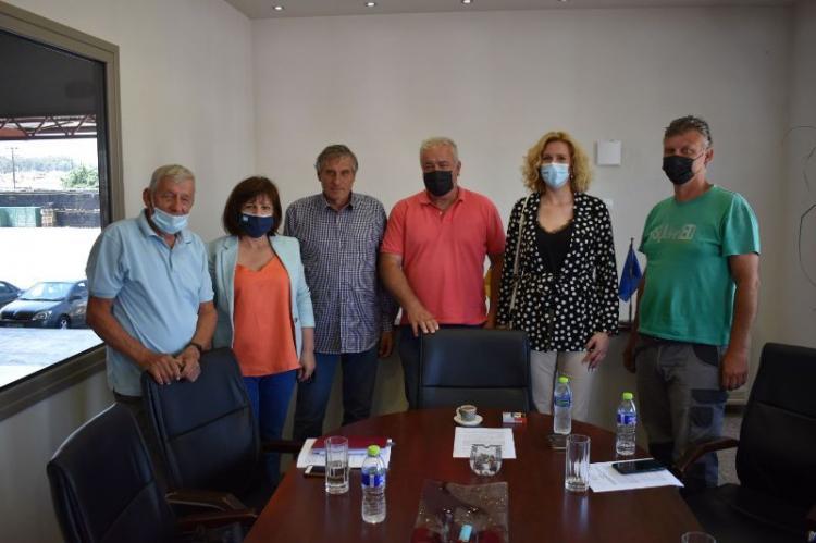 Επίσκεψη της Φρ.Καρασαρλίδου σε συνεταιρισμούς της Νάουσας και ενημέρωσή τους για την απάντηση του Υπουργείου για τον ΕΛΓΑ και το Ταμείο Ανάκαμψης