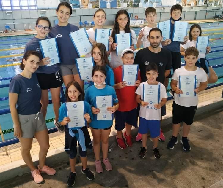 Αγωνιστική δράση για τα μικρά δελφίνια της Κολυμβητικής Ακαδημίας «ΝΑΟΥΣΑ»
