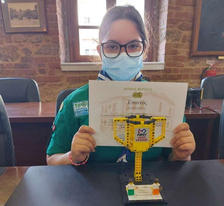 Βράβευση της ομάδας Ρομποτικής του 3ου Συστήματος Δασοπροσκόπων από το Δήμαρχο Βέροιας