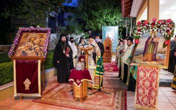 Με λαμπρότητα ο Πανηγυρικός Εσπερινός για τον Πολιούχο της Ναούσης Όσιο Θεοφάνη τον θαυματουργό