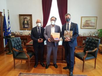 Εθιμοτυπική επίσκεψη του Πρέσβη του Καναδά στο Δήμαρχο Βέροιας
