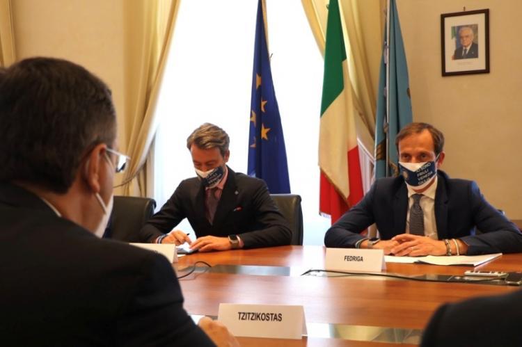 Επίσκεψη του Απ.Τζιτζικώστα στην Τεργέστη της Ιταλίας, συναντήσεις με τον Περιφερειάρχη Friuli Venezia Giulia και τον Πρόεδρο του Περ/κού Κοινοβουλίου και ομιλία σε εκδήλωση για το Μέλλον της Ευρώπης