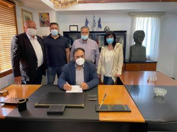 Δήμος Βέροιας : Υπεγράφη η σύμβαση για το Δίκτυο Αποχέτευσης στη Βεργίνα