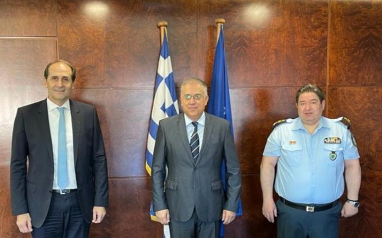 Συνάντηση Βεσυρόπουλου με τον Υπουργό Προστασίας του Πολίτη και τον Αρχηγό της ΕΛ.ΑΣ. για την ίδρυση τμήματος Τροχαίας Αυτοκινητοδρόμων Ημαθίας