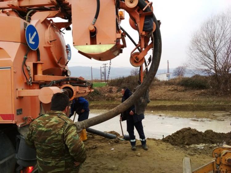 Αποκατάσταση της βλάβης στο δίκτυο υδροδότησης της Μελίκης
