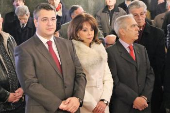 Ο περιφερειάρχης κεντρικής Μακεδονίας Απόστολος Τζιτζικώστας στην αρχιερατική θεία λειτουργία της πρωτοχρονιάς